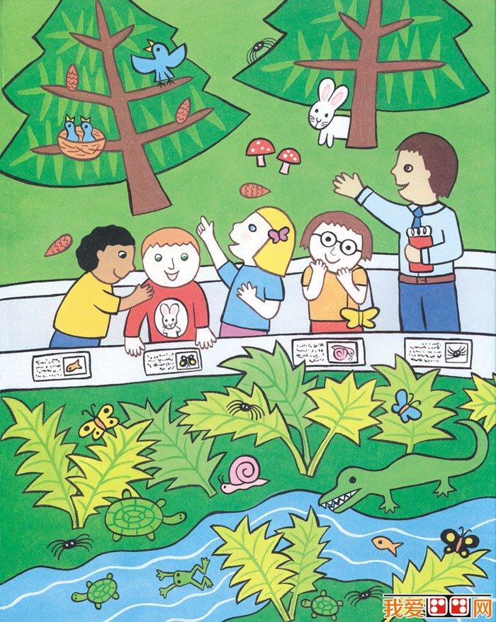 儿童水粉画:快乐的一天水粉画作品(2)图片