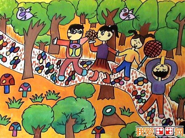 我健康我快乐儿童画_儿童水粉画:快乐的一天水粉画作品