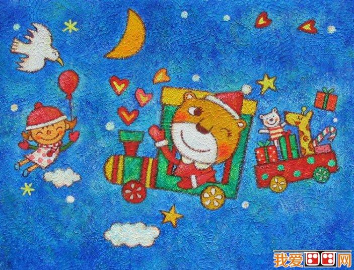 童画欣赏 儿童蜡笔画可爱的动物 3