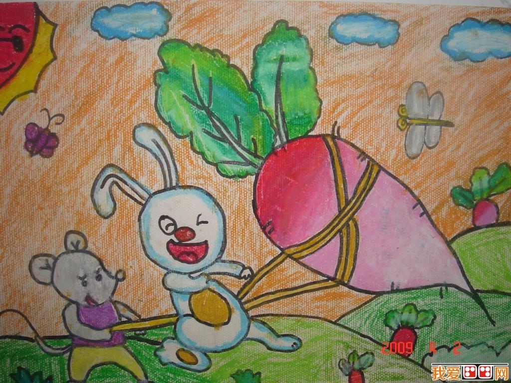 童画欣赏 儿童蜡笔画可爱的动物 4
