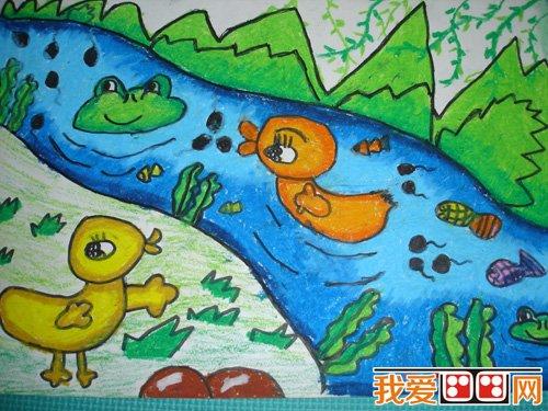 童画欣赏 儿童蜡笔画可爱的动物 5
