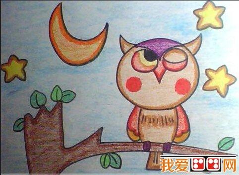 儿童蜡笔画可爱的动物的全部内容