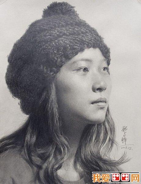 素描作品:邵占锋铅笔素描人物头像欣赏