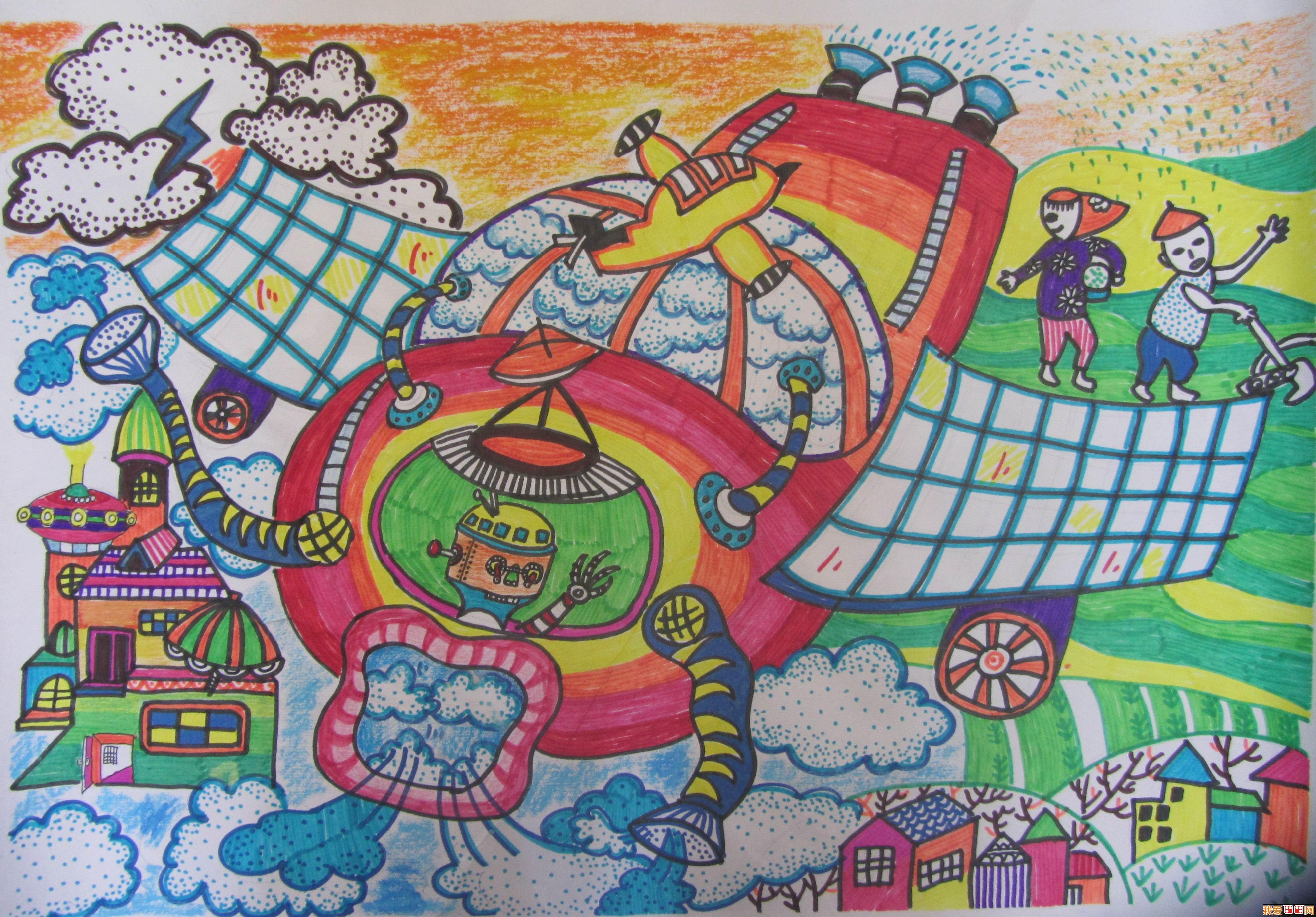 儿童学画画:什么是少儿科幻画?