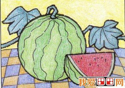 儿童画画教程 油画棒画西瓜步骤图解 6