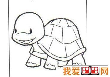 儿童画画教程:油画棒画小乌龟步骤图解(3)