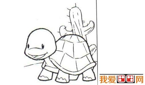 儿童画画教程:油画棒画小乌龟步骤图解(4)