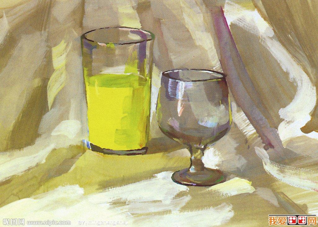 水彩画教程:玻璃器皿的画法