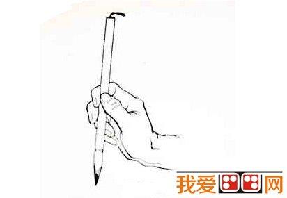 中国画教程:中国画执笔法简介