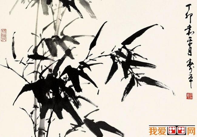 软笔手绘竹子图片
