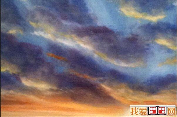油画素材 明亮色 天空