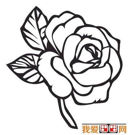 简笔画:玫瑰花简笔画作品欣赏