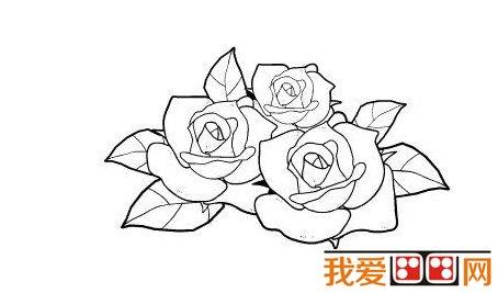 简笔画:玫瑰花儿童简笔画作品欣赏