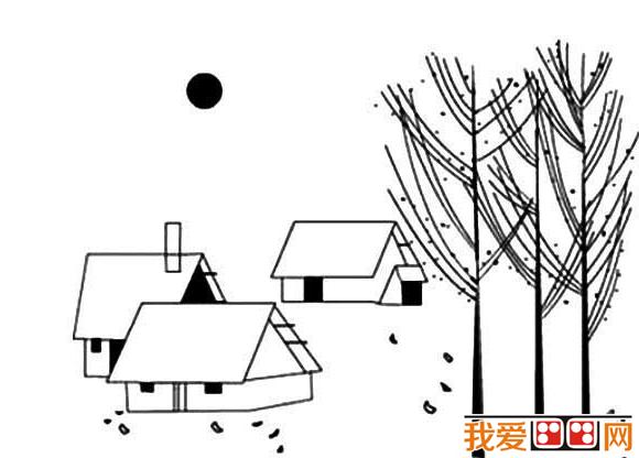 简笔画:自然风景简笔画作品欣赏(2)_简笔画_儿童画 ...