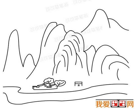 简笔画:自然风景简笔画作品欣赏(3)