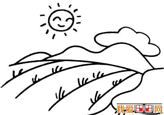简笔画 自然风景简笔画作品欣赏 5