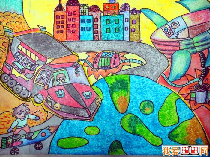 儿童科幻画 作品欣赏 神奇的发明 3