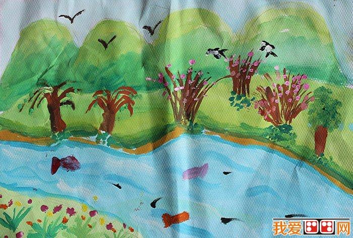 儿童风景水粉画作品内容|儿童风景水粉画作品图片