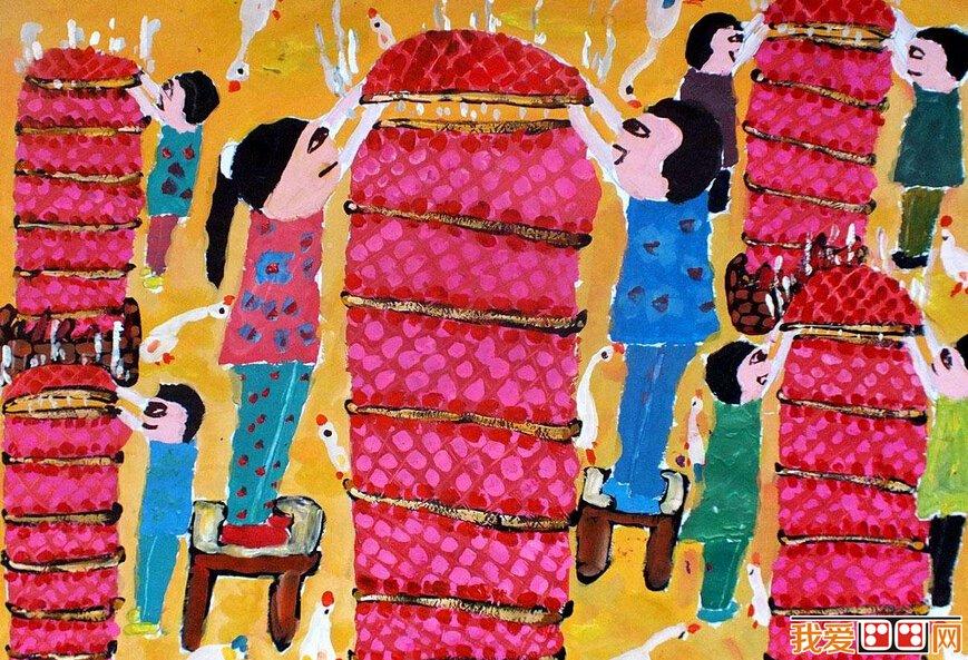 儿童水粉画作品欣赏 一般民间做寿七十岁为「大寿」八十为「上寿」九