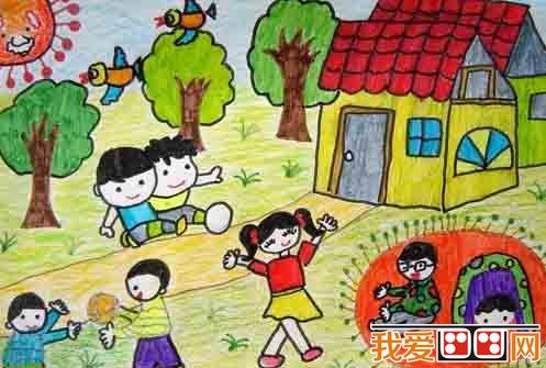 蜡笔画 > 儿童画:暑假生活儿童蜡笔画欣赏(6)      运动是我们每个人