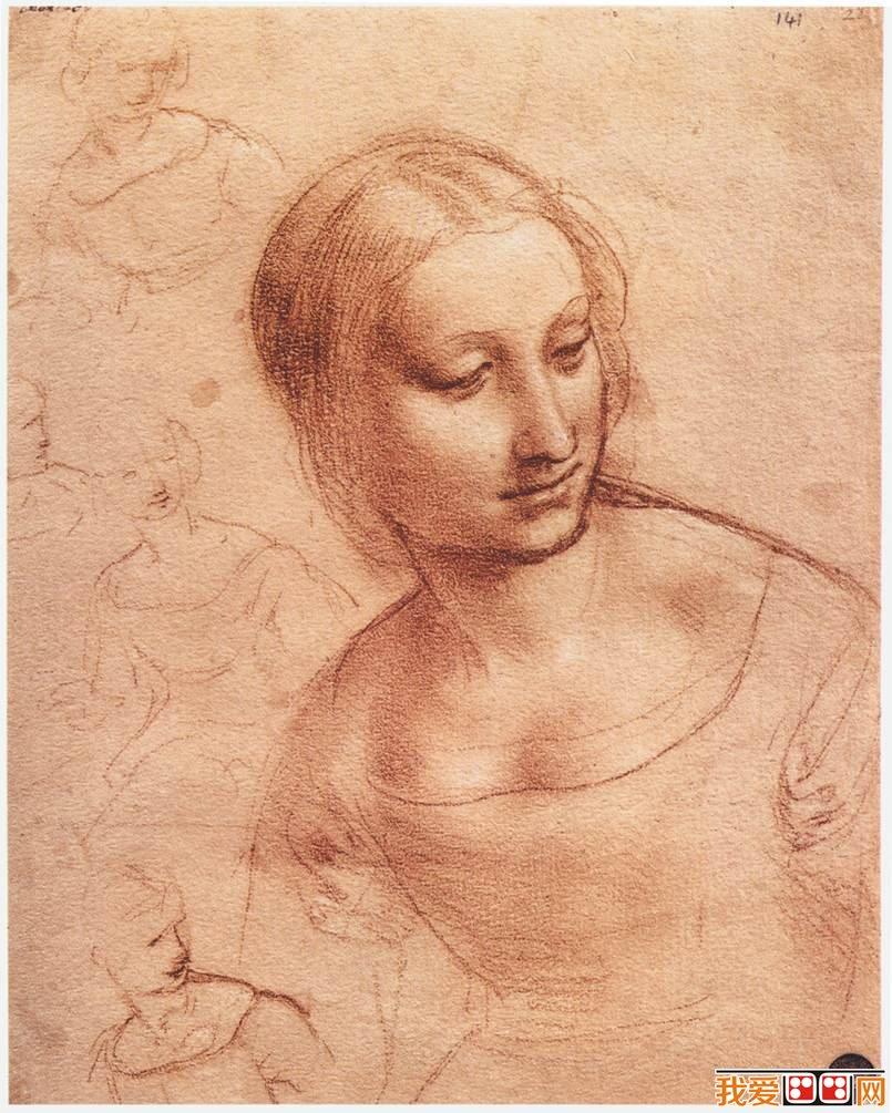 人物素描:达芬奇女人肖像素描作品 欧洲 文艺复兴 时期的天才科学家、发明家、 画家 。现代学者称他为文艺复兴时期最完美的代表,是人类历史上绝无仅有的全才,他最大的成就是 绘画 ,他的杰作《蒙娜丽莎》、《最后