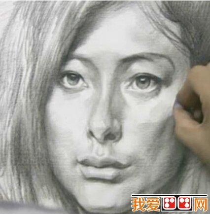 素描教程:如何画素描头像中的鼻子