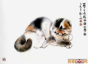 可爱动物简笔画猫图片16副