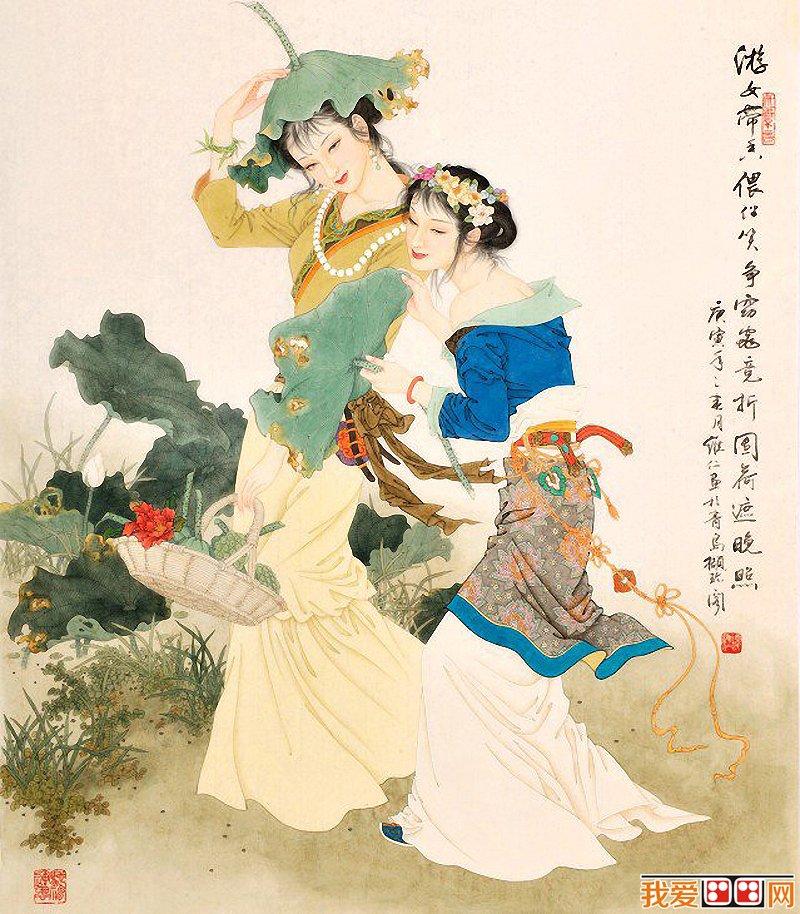 百科 中国名画 人物画 > 项维仁中国古代美女图赏析(4)