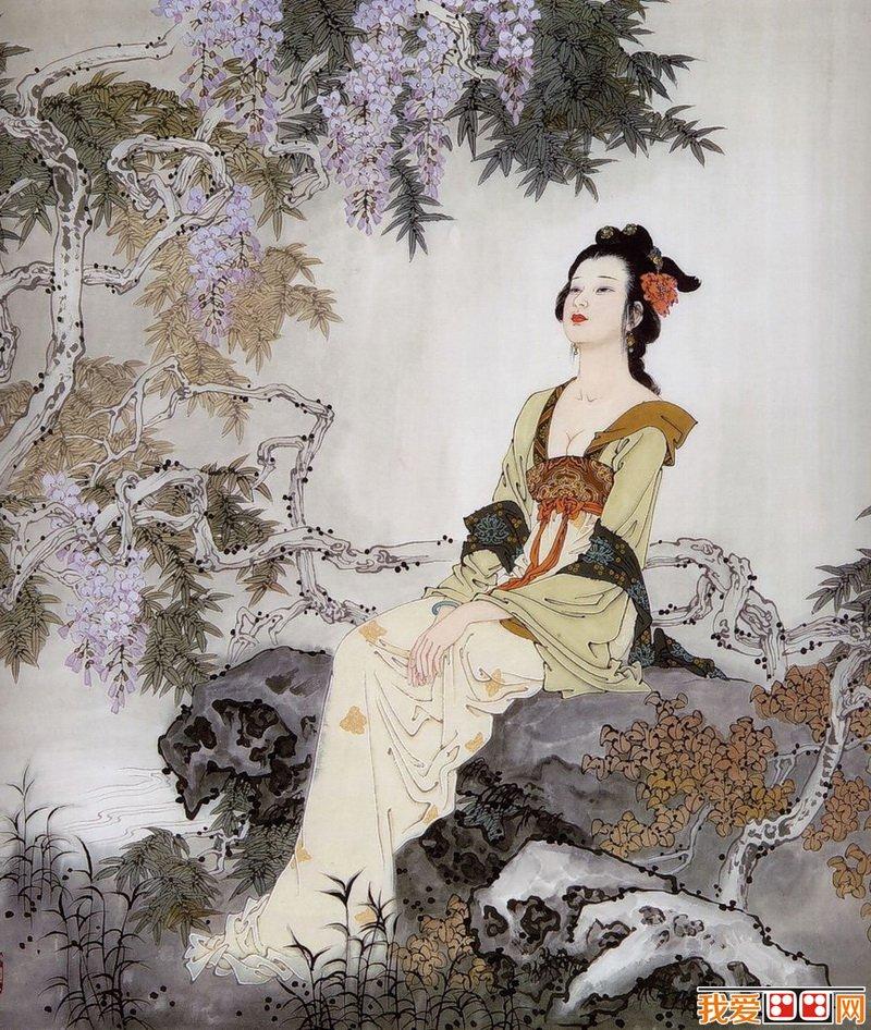 百科 中国名画 人物画 > 项维仁中国古代美女图赏析(5)
