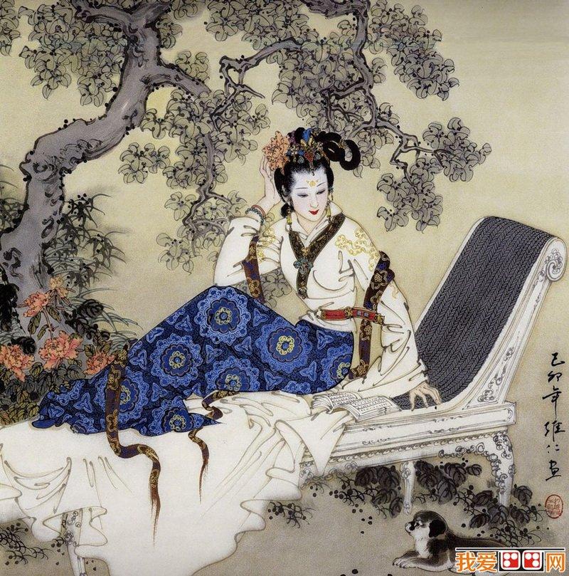 项维仁古代美女人物图