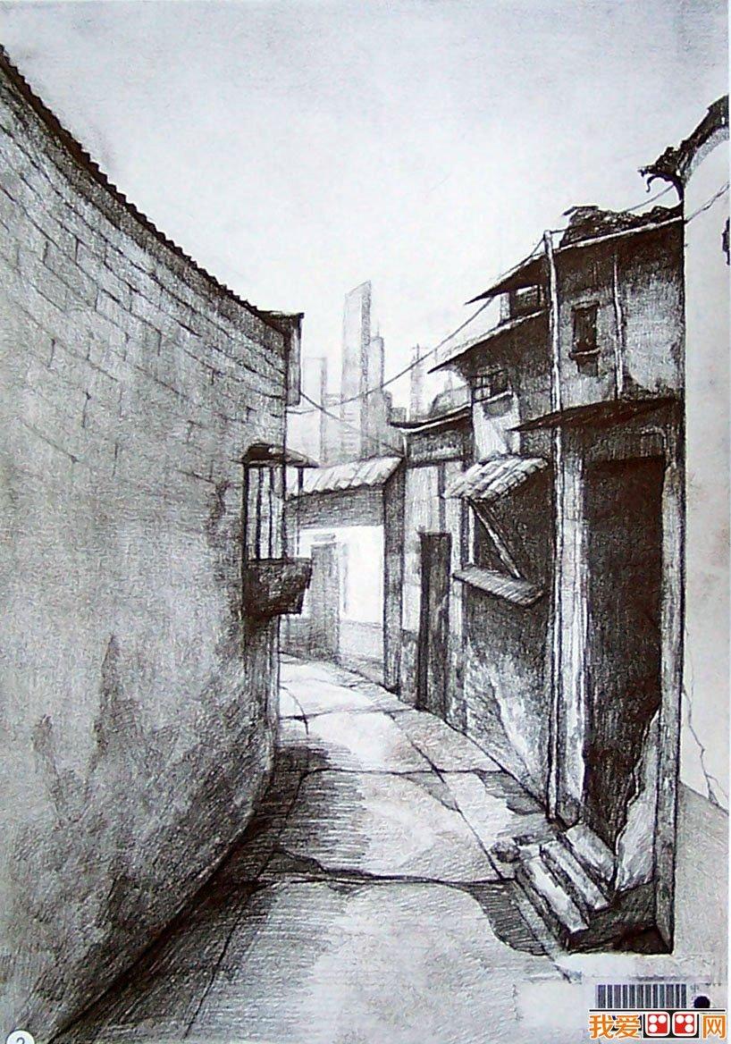 中央美术学院建筑素描图片欣赏 2图片