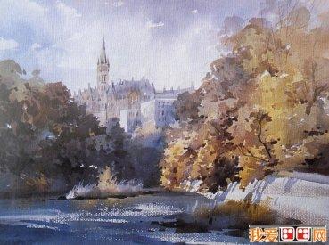 水彩風景畫的構圖和取景