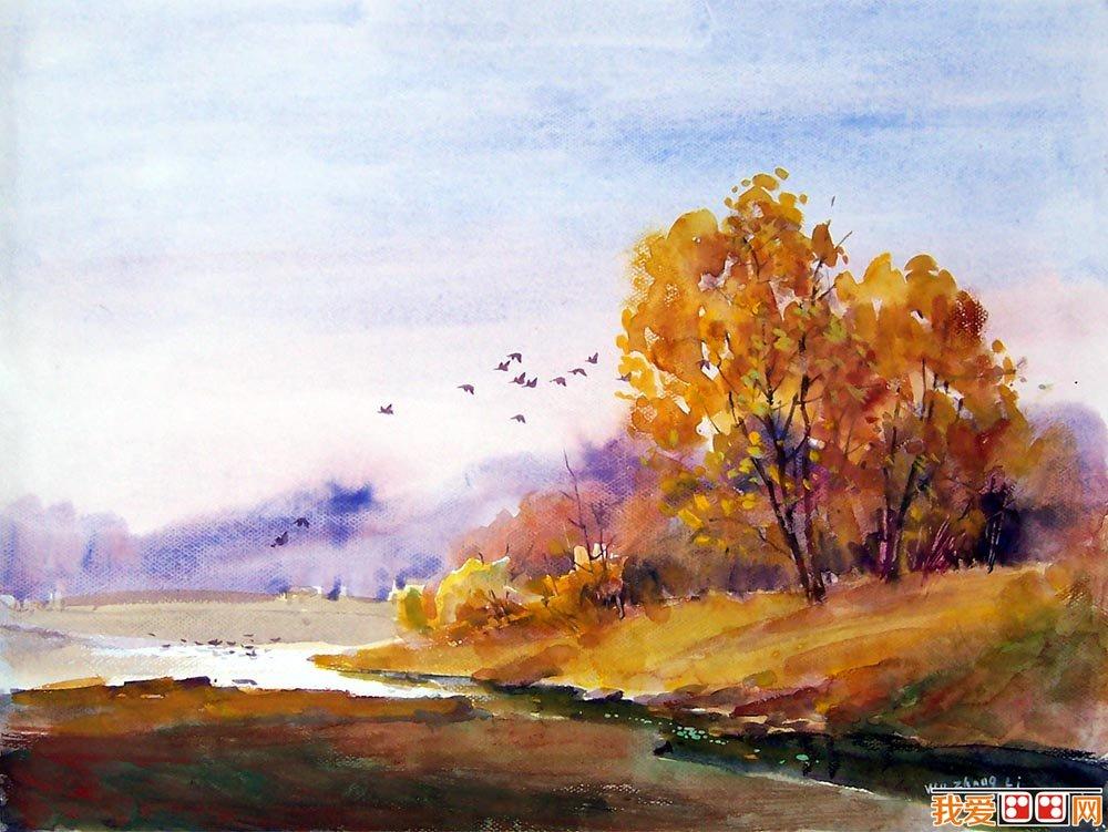 水彩画知识: 水彩风景画