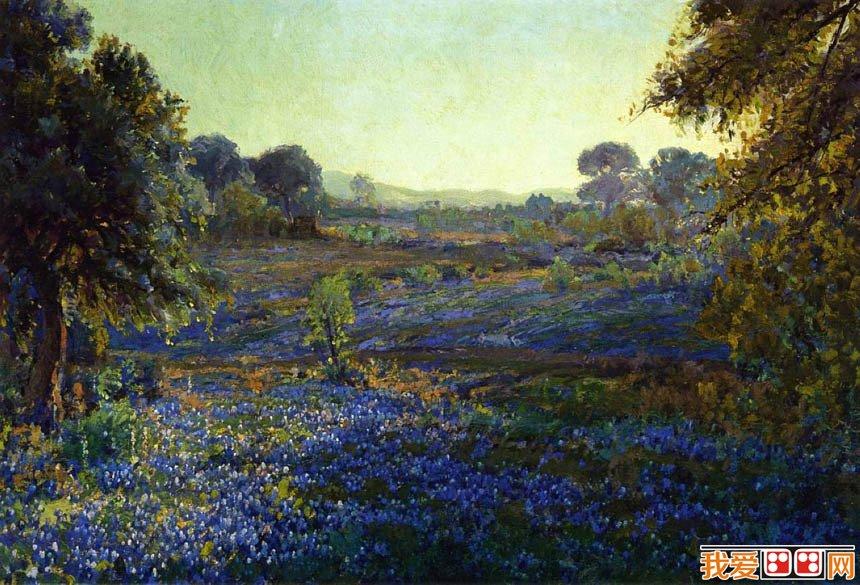 首頁 世界名畫 油畫風景 > 美國印象派畫家julian onderdonk的藍調