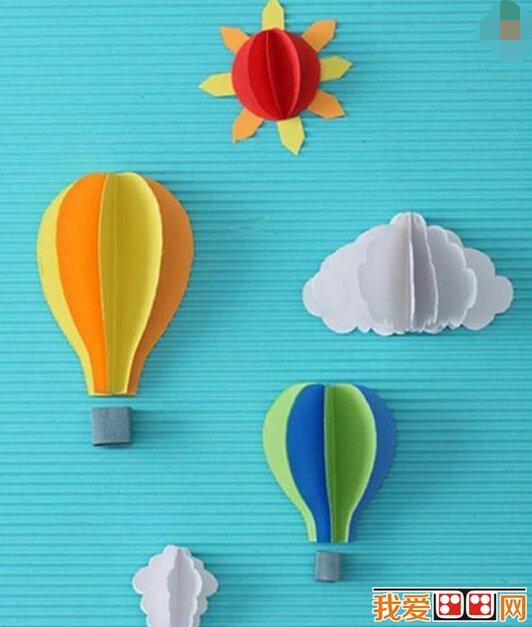 DIY手工小制作 纸板晴雨表立体贴画手工教程