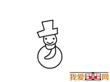 雪人儿童简笔画教程步骤详解(3)_简笔画_儿童画_我爱
