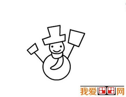 雪人儿童简笔画教程步骤详解(4)