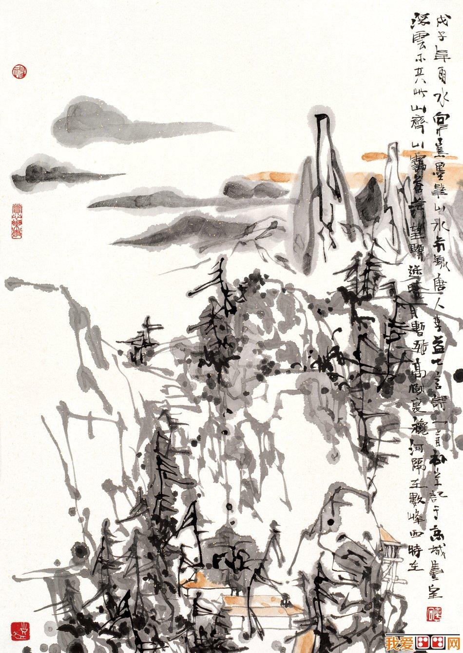 刘向平写意山水画作品赏析