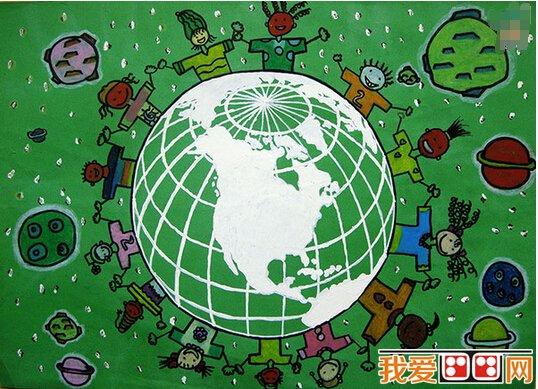 保護地球兒童水粉畫作品欣賞 2