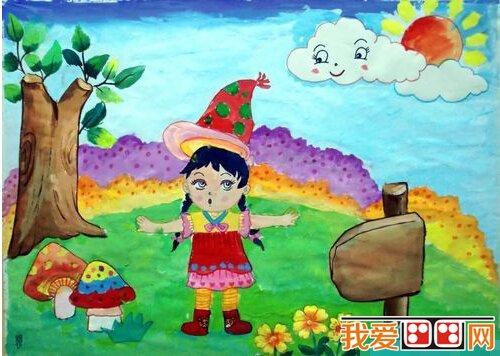 保护地球儿童水粉画作品欣赏(5)图片
