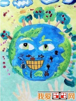 保护地球儿童水粉画作品欣赏(3)图片
