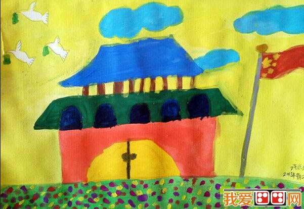 水彩画之国庆节作品欣赏