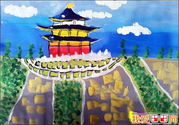儿童水彩画之国庆节作品欣赏(2)_儿童画教程_学画画