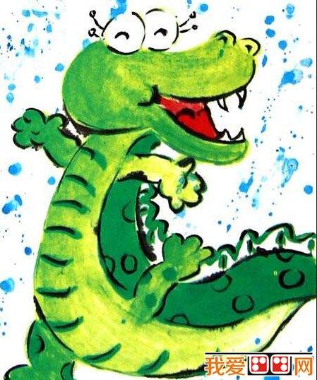 儿童水彩画;可爱的卡通动物作品赏析