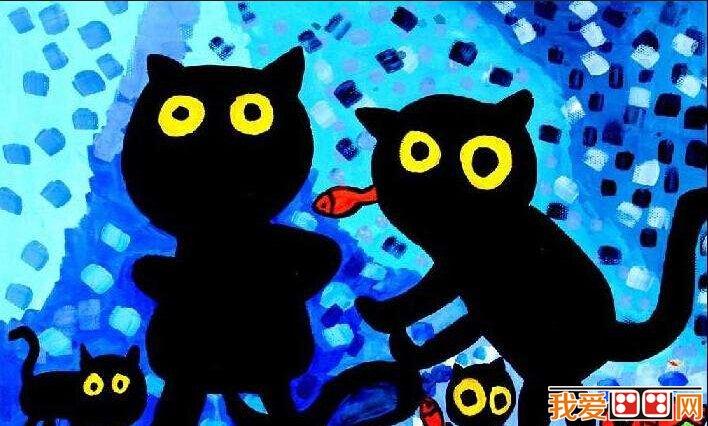 儿童水彩画;可爱的卡通动物作品赏析(4)