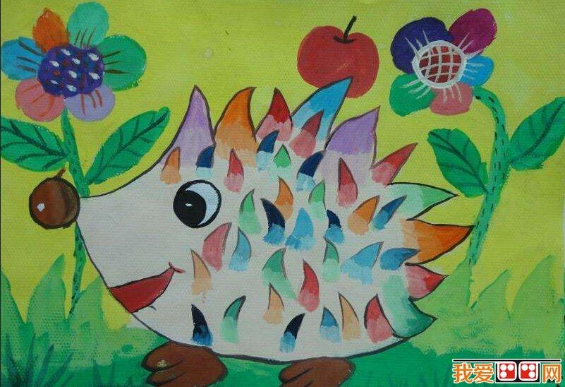 儿童水彩画;可爱的卡通动物作品赏析(6)