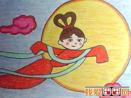 中秋节儿童蜡笔画作品欣赏 4