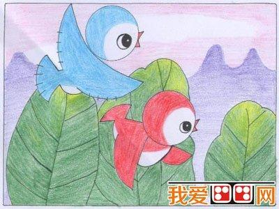 儿童蜡笔画之绿色家园 2