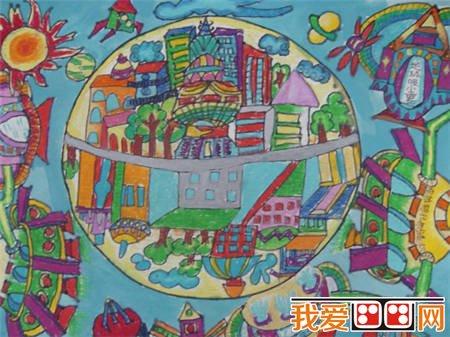 儿童蜡笔画之绿色家园 4