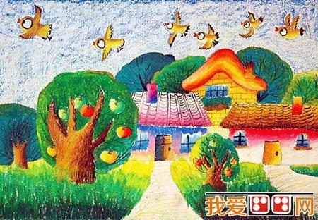 儿童蜡笔画之绿色家园 5